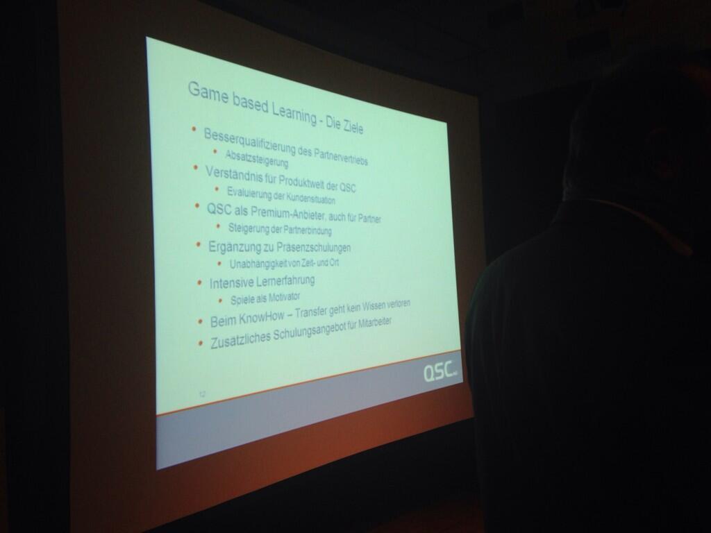 Ziele der Gamification-Aktion bei QSC