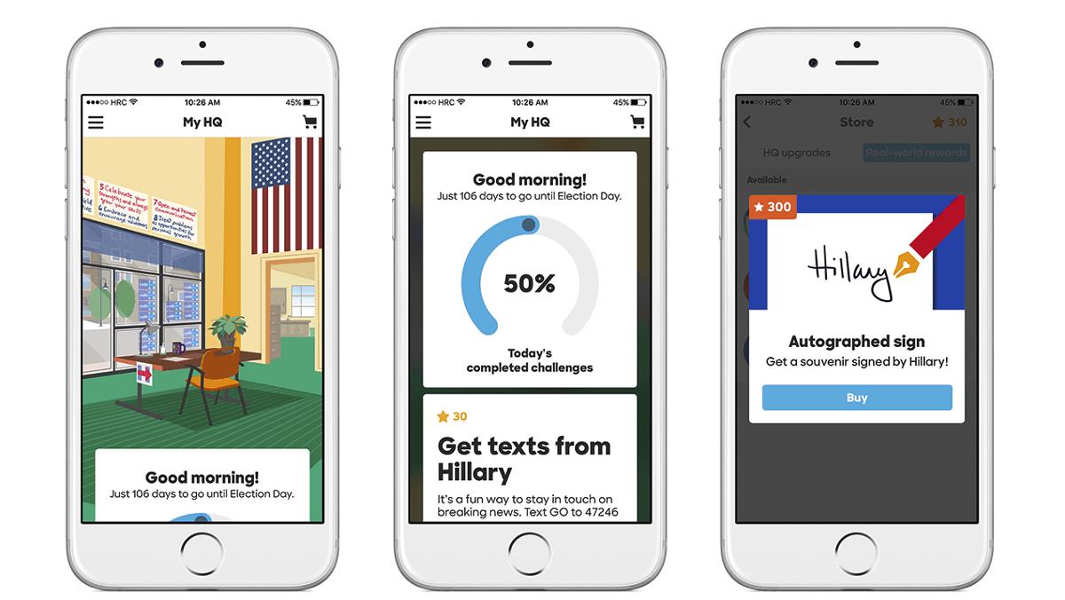 Gamification im US-Wahlkampf: Clinton setzt auf App
